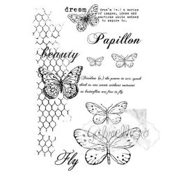 "49 & Market Clear Stamps 4""X6"" - Gabi's Butterflies Are Free"